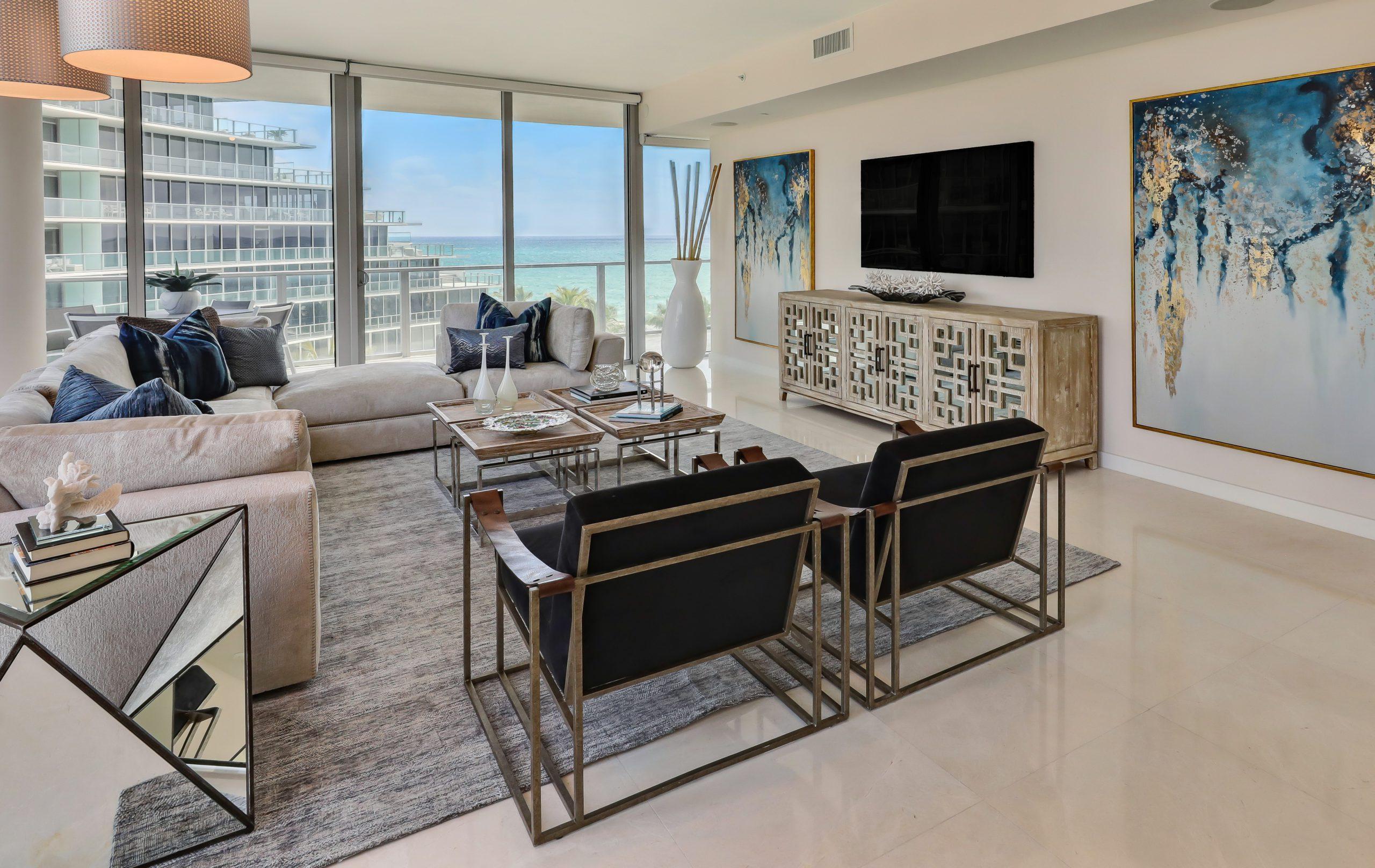 2200 N Ocean S506 Auberge Stage Living Area